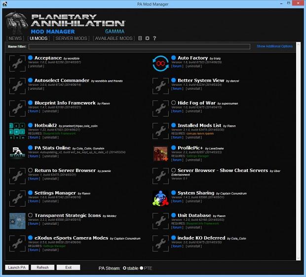 Planetary Annihilation Mod Manager