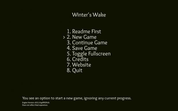 Winter's Wake Early Demo (Mac 64 bit)