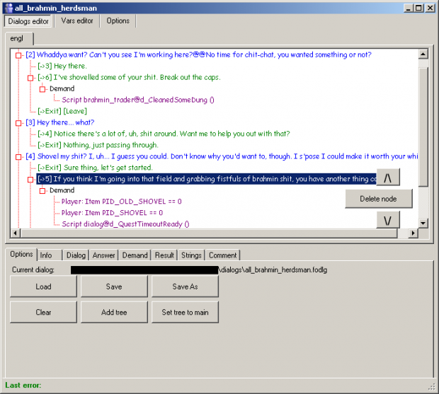 Dialog Editor