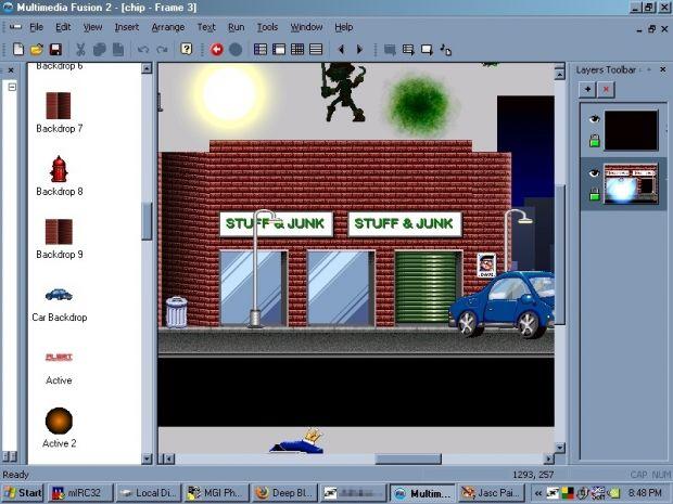 Multimedia Fusion Frame Editor