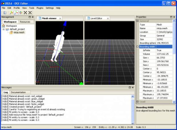 Mesh viewer (and wip of the level editor)