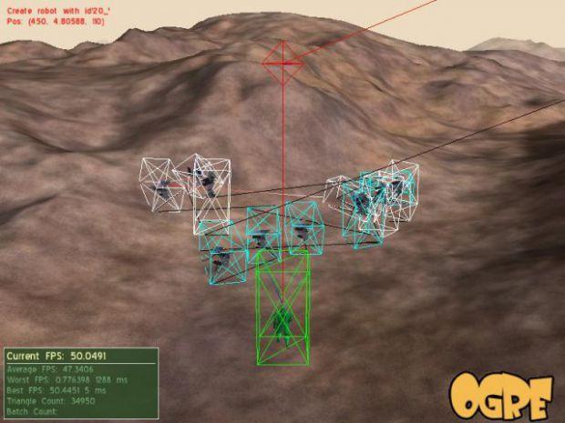 Physisc FPS Sample (physics debug shape on)