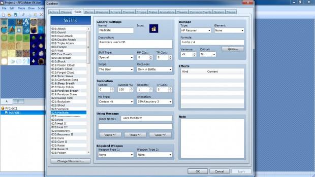Editor screenshot