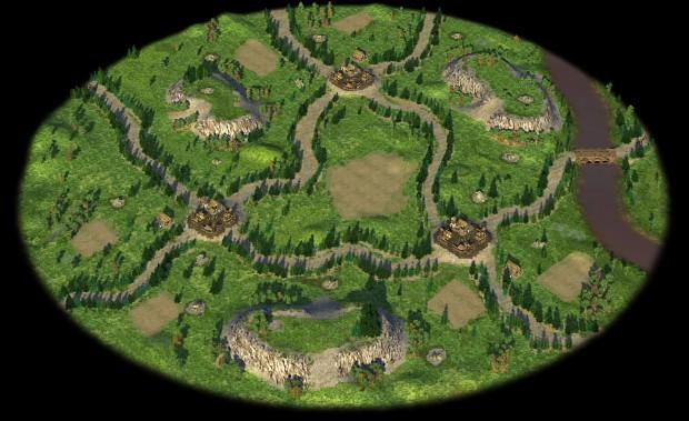 Circular maps and lush terrain