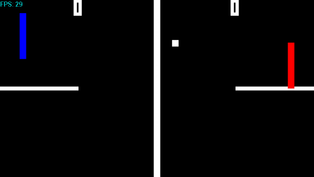 Pong using Xemplar 2D Game Engine AE.