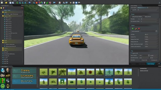 Sge Product Video C Race Track Template Skyline Game Engine