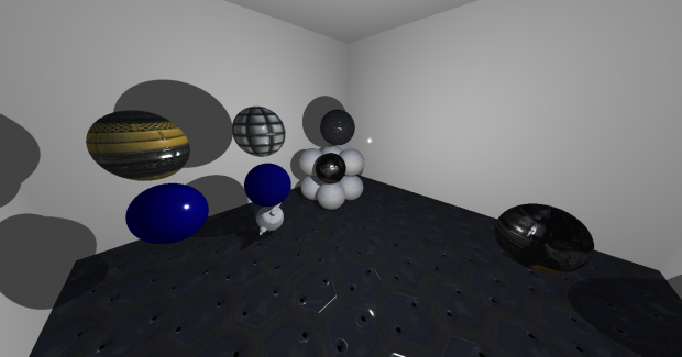 Physically based rendering Test Room