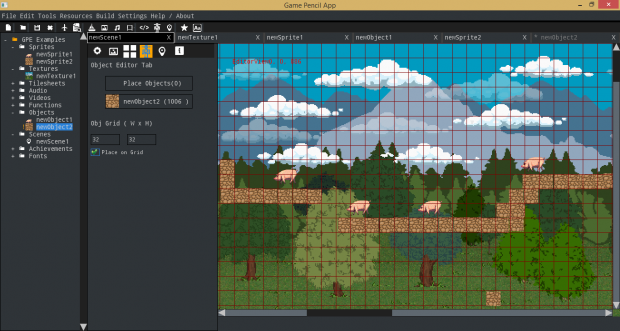 Placing Objects in the Scene Editor
