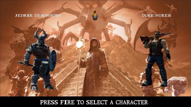 Character selection.