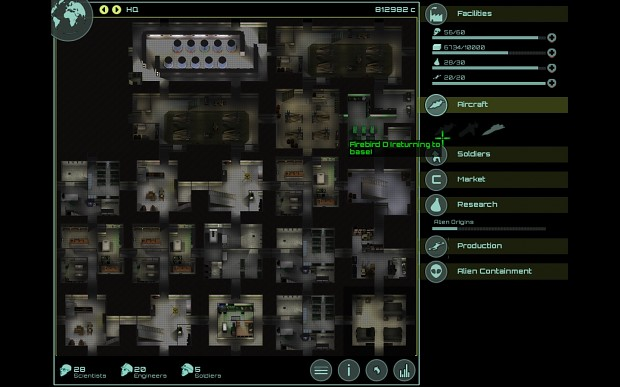 New Base Screen