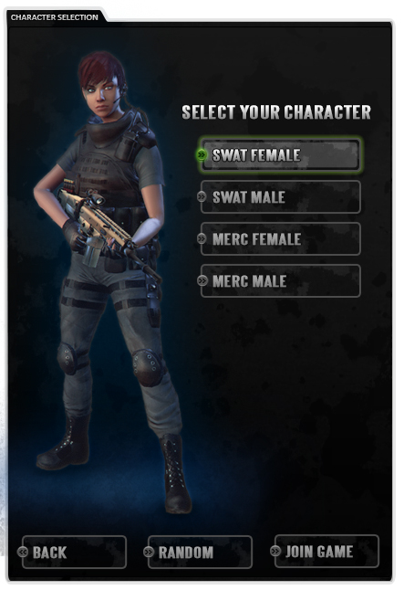 Character Selection Menu
