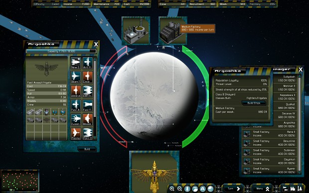 Galactic Conquest expansion screens