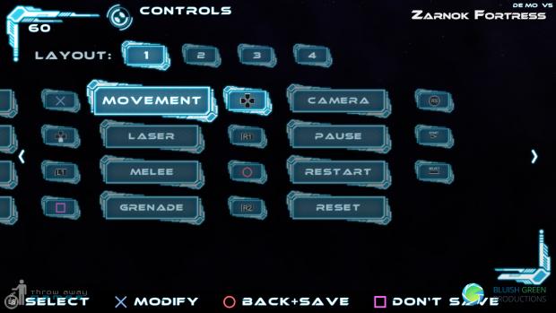 The new Controls menu