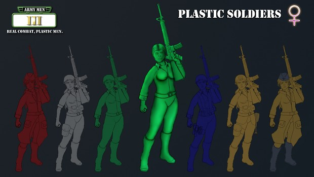 Concept Art - Plastic Soldiers (Female)