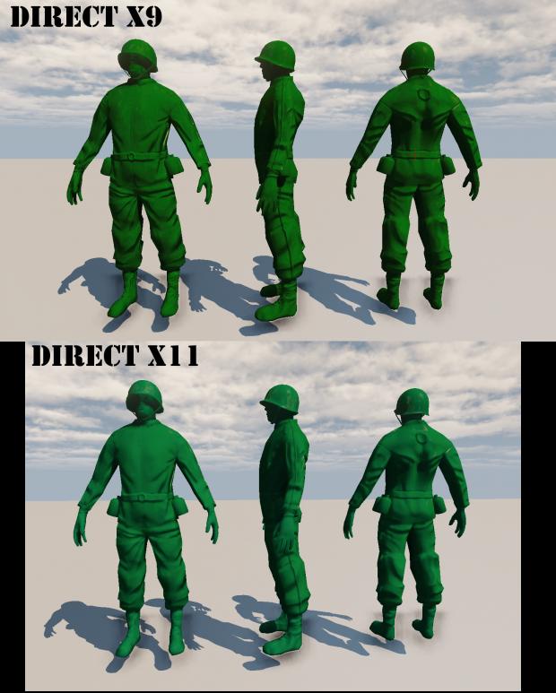 Soldier Render Comparision