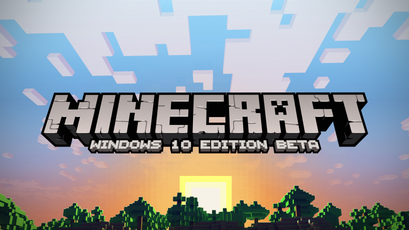 Minecraft Windows 10 Key Art