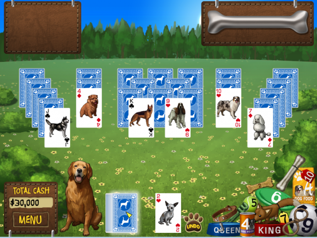 Early Screenshots of Dog Solitaire