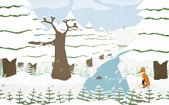 Early concept art for seasons changing - Winter