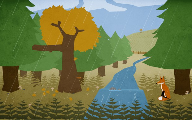 Early concept art for seasons changing - Autumn