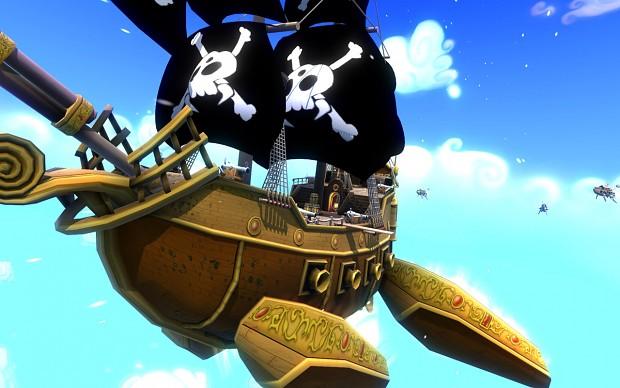 Annha's ship followed by alien pirates