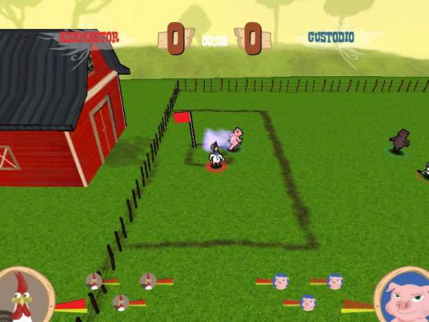 Gameplay during a typical match
