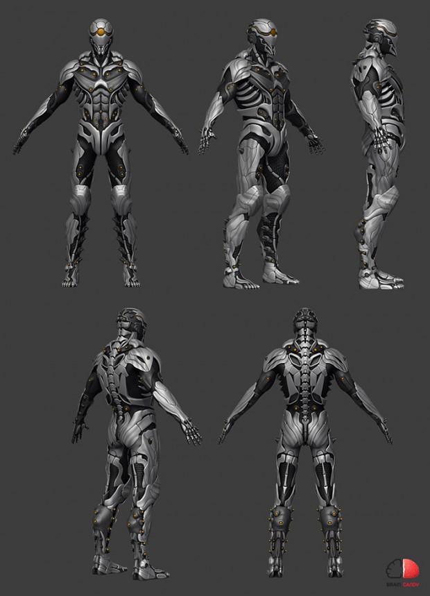 Fray - Advanced Light Armor 3D Model image - Fray: Reloaded