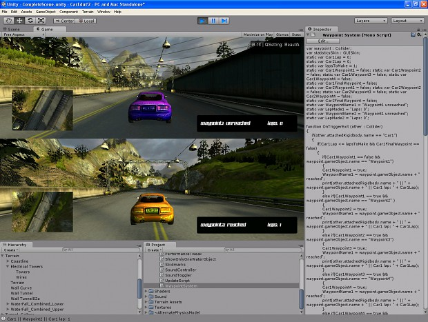 Waypoint system GUI