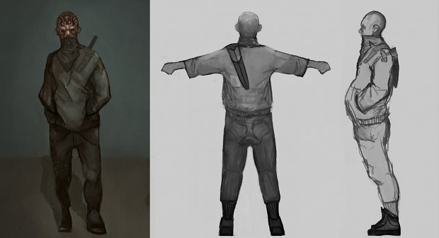 First character model concepts