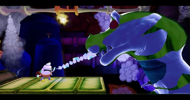 Battle against T-Rex