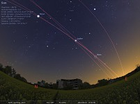 A dance of stars above ESO HQs