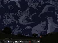 Constellation art turned on