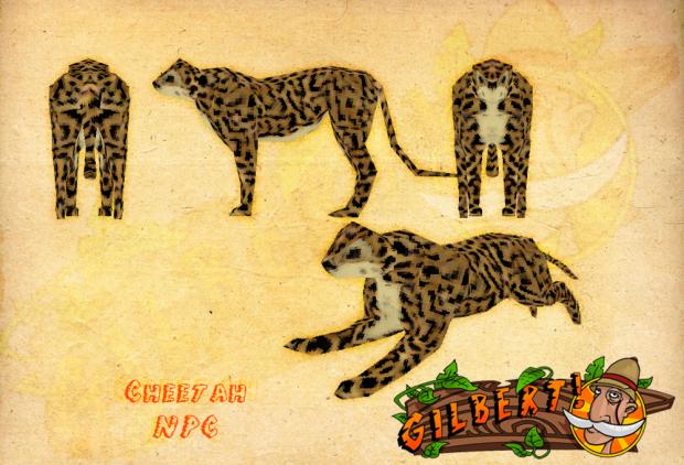 Cheetah Model Sheet
