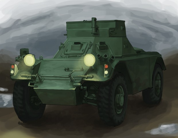 Daimler Ferret Armoured Car Concept