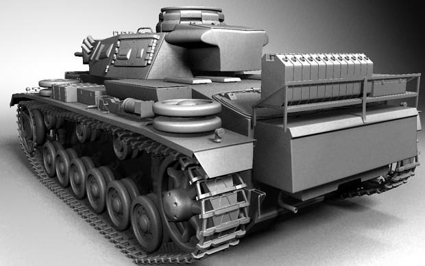 Panzer III Ausf-L Model RearNaked (WIP)