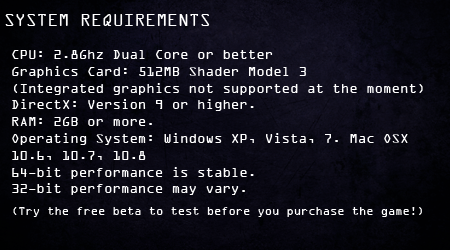 System Requirements - 8/6/12