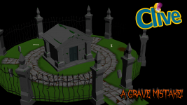 In-progress screen from the level, A Grave Mistake