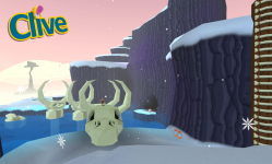 The first shot of the newest level; Iceceratops!
