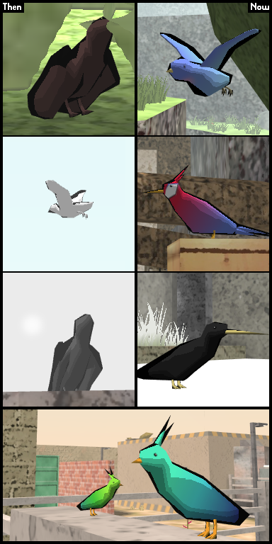 Birds then and now
