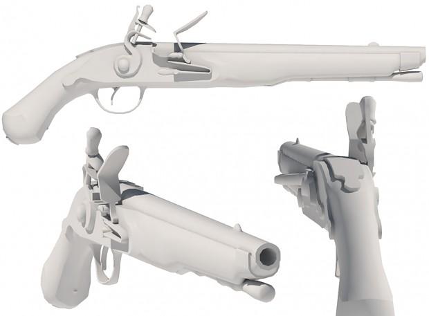 Pistol WIP Untextured - 2,700 tris.