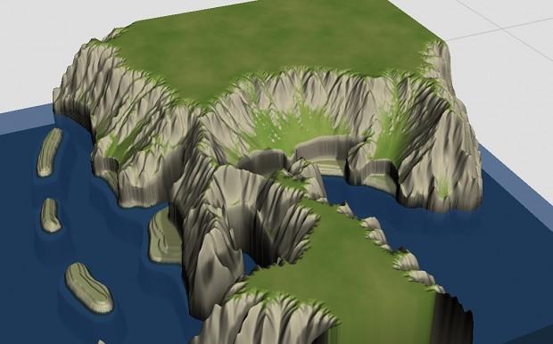 Terrain Progress for Island Map Redux