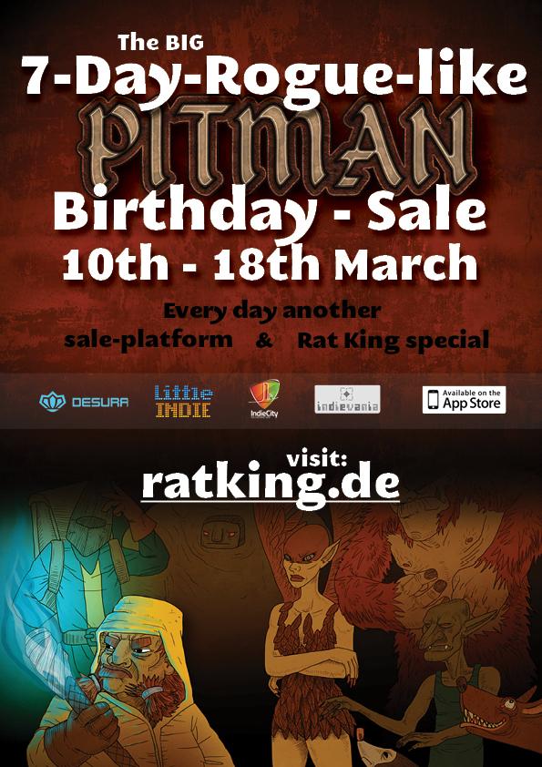 Pitman 7DRL Bithday Sale