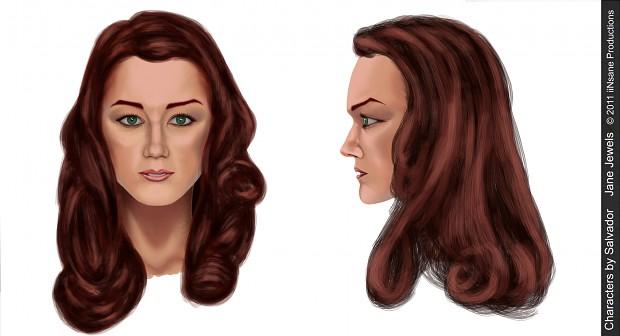Concept Art - Jane Jewels - face shot