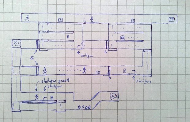 Sketch of SP9 level