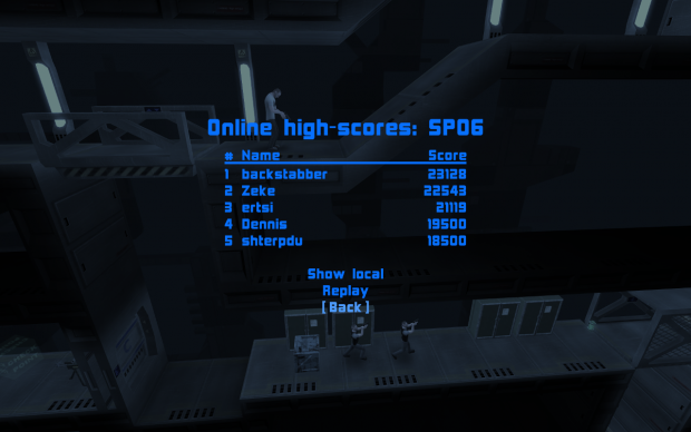 High-scores on the new menu background shader