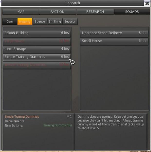 research screen
