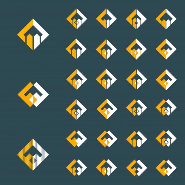 Developing split diamond design