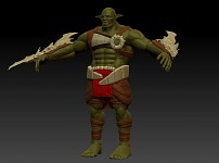 Renders/Screenshots - Orc Brute Flat Color