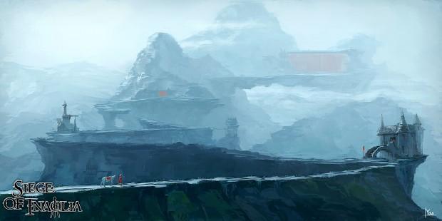 Concept Art - Snow Arena Environmental Concept #2