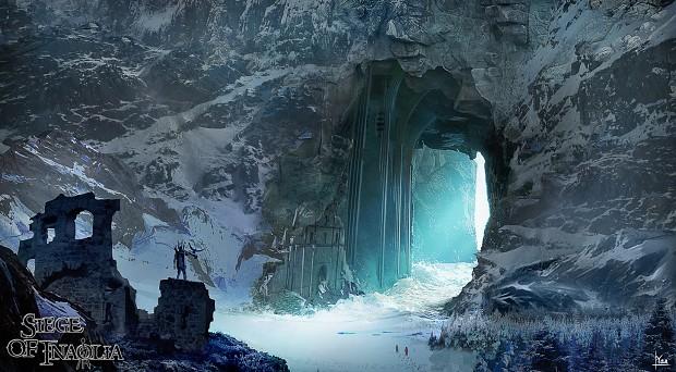 concept art snow arena environmental concept 1 image