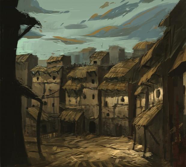 Concept Art - Slums District #2